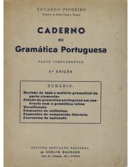 Caderno de Gramática Portuguesa | de Eduardo Pinheiro