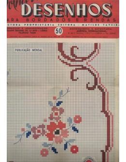 Folha de Desenhos para Bordados e Rendas - N.º 50 - Setembro de 1951