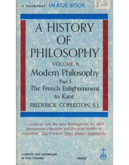 A History of Philosophy - Volume 6 Part I | de Frederick Copleston