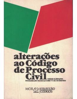 Alterações ao Código de Processo Civil