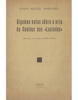 Algumas Notas Sôbre a Arte de Camões nos «Lusíadas» | de Myro Malkiel Jirmounsky