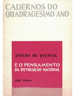 Antero de Quental e o Pensamento da Revolução Nacional | de João Afonso