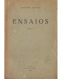 Ensaios - Tomo IV | de António Sérgio