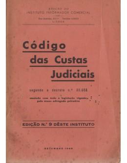 Código das Custas Judiciais