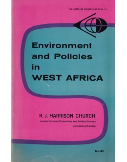 Environment and Policies in West Africa   de R. J. Harrison Church