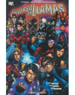 Titanes / Légion de Superhéroes: Universo en Llamas