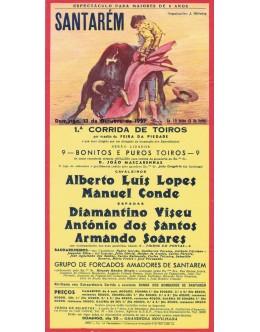 Folheto Tourada - Santarém - 13 de Outubro de 1957