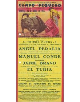 Folheto Tourada - Campo Pequeno - 24 de Abril de 1955