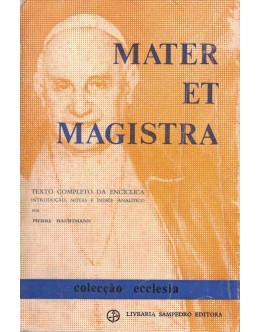 Mater et Magistra | de S. S. João XXIII