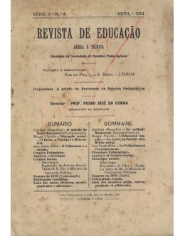 Revista de Educação - Série II - N.º 4 - Abril de 1914