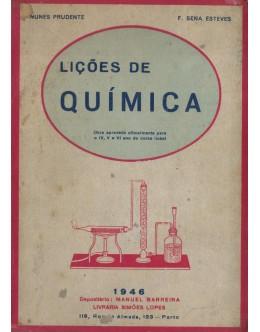 Lições de Química | de J. Nunes Prudente e F. Sena Esteves