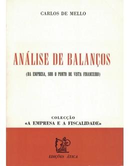 Análise de Balanços | de Carlos de Mello
