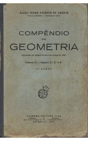 Compêndio de Geometria - Volume 2.º   de Diogo Pacheco de Amorim