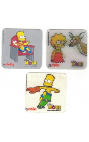 Lote 3 Autocolantes - The Simpsons Movie