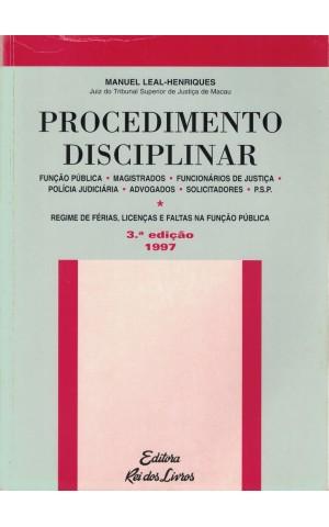 Procedimento Disciplinar | de Manuel Leal-Henriques