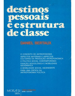 Destinos Pessoais e Estrutura de Classe   de Daniel Bertaux