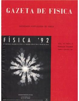 Gazeta de Física - Vol. 14, Fasc. 4 - Outubro a Dezembro de 1991