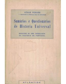 Sumários e Questionários de História Universal   de César Pegado