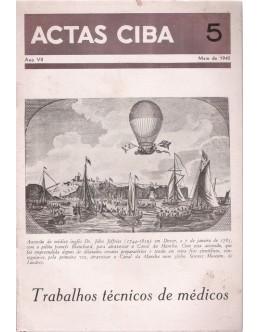 Actas Ciba - Ano VII - N.º 5 - Maio de 1940