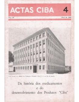 Actas Ciba - Ano IX - N.º 4 - Abril de 1942