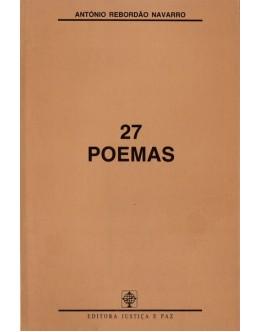 27 Poemas | de António Rebordão Navarro