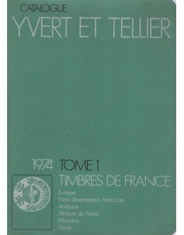 Catalogue Yvert et Tellier 1974 - Tome 1: Timbres de France