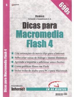 Dicas para Macromedia Flash 4